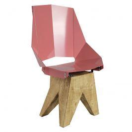 Krzesło stalowe 94,5 cm Gie El brudny róż