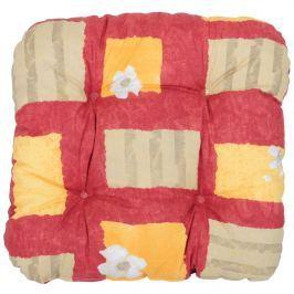 Poduszka na taboret 38x38cm Bazkar czerwono-beżowa
