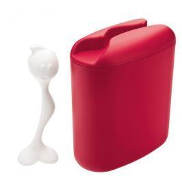 Pojemnik na kawę z miarką Koziol Hot Stuff czerwony