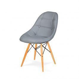 Krzesło 44x45x85cm King Home DSW Ekoskóra popielato-szare