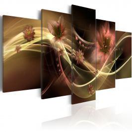 Obraz - Przydymione kwiaty (100x50 cm)