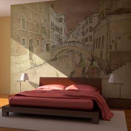 Fototapeta - Gondolas in Venice (200x154 cm)
