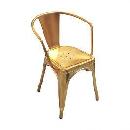 Krzesło 45x51x72,5cm King Home Tower arm złote