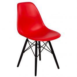 Krzesło 45x80x39 D2 P016W PP Czerwone