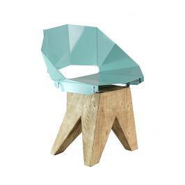 Krzesło stalowe 74 cm Gie El turkusowe