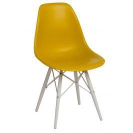 Krzesło P016W PP D2 ciemna oliwa/białe
