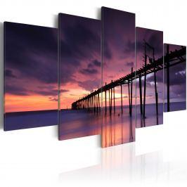 Obraz - Wybrzeże tuż przed zmrokiem (100x50 cm)