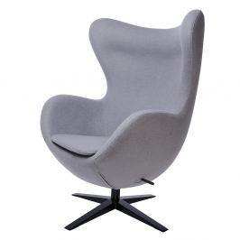 Fotel szeroki 80x110x70cm King Home Egg szary/czarny