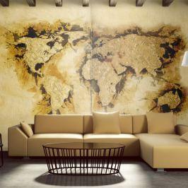 Fototapeta - Mapa poszukiwaczy złota (450x270 cm)