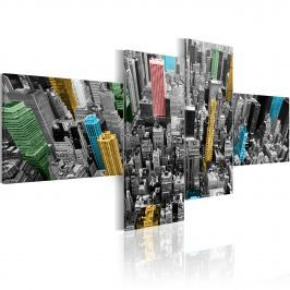 Obraz - Nowy Jork w zaskakującej aranżacji (100x45 cm)