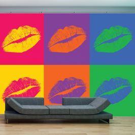 Fototapeta - usta (pop art) (200x154 cm)