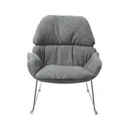 Fotel na płozie 69x79x85cm King Home Nino jasno-szary