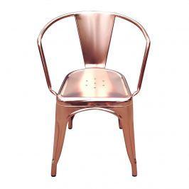 Krzesło 45x51x72,5cm King Home Tower arm różowo-złote