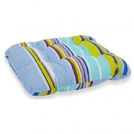 Poduszka na taboret 38x38cm Bazkar zielono-niebieska