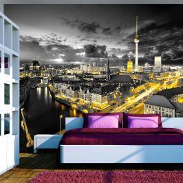 Fototapeta - Berlin nocą (300x210 cm)