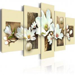 Obraz - Tekstura i magnolia (100x50 cm)