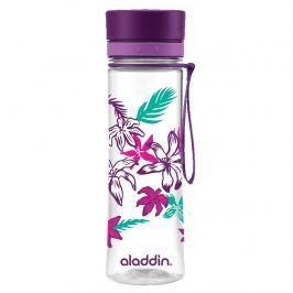 Butelka na wodę 0,6 l Aladdin Aveo fioletowa grafika