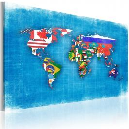 Obraz - Flagi świata (60x40 cm)