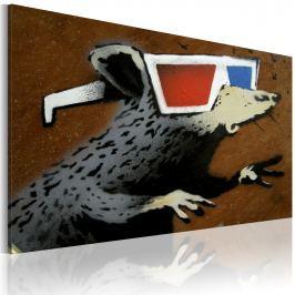 Obraz - Szczur w okularach 3D (Banksy) (60x40 cm)