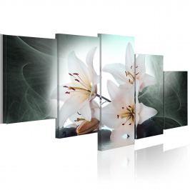Obraz - Chłodne lilie (100x50 cm)