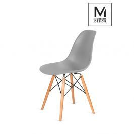 Krzesło DSW Modesto Design szare-podstawa bukowa