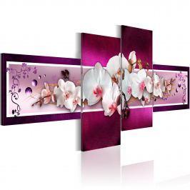 Obraz - Romantyczne orchidee (100x45 cm)