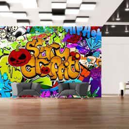Fototapeta - Scary graffiti (300x210 cm)