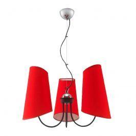 Żyrandol Victoria 3 Lampex czerwony