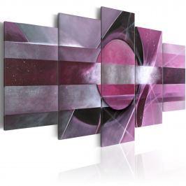 Obraz - Fioletowa abstrakcja (100x50 cm)