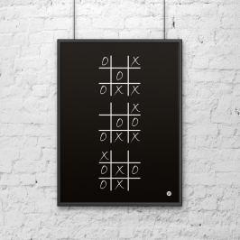 Plakat dekoracyjny 50x70 cm KÓŁKO I KRZYŻYK DekoSign czarny