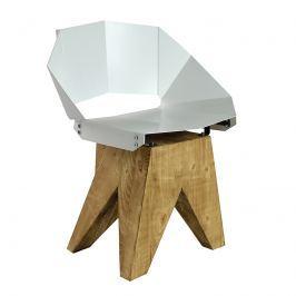 Krzesło stalowe 74 cm Gie El białe
