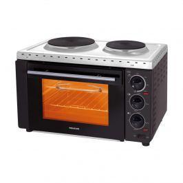 Piekarnik elektryczny z płytami grzewczymi i grillem z rożnem obrotowym; idealny do małych kuchni i