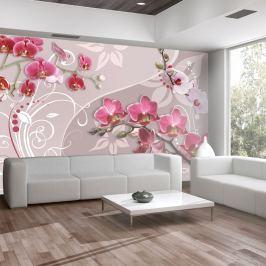 Fototapeta - Lot różowych orchidei (300x210 cm)
