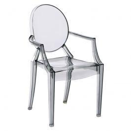 Krzesło Louis Victoria Ghost Royal inspirowane transparentny szary