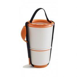 Pojemnik na lunch Black+Blum Lunch Pot biało - pomarańczowy