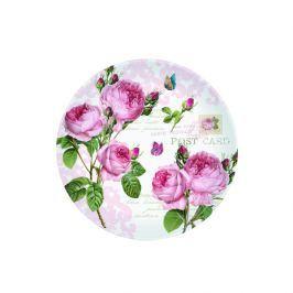 Talerz deserowy 19 cm Nuova R2S Romantic piwonie