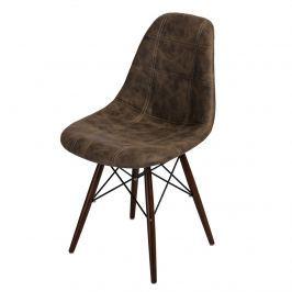 Krzesło P016W Pico D2 brązowe ciemne