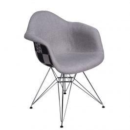 Krzesło P018 DAR Pattern D2 szare/patchwork