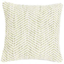 Poduszka Melange Zigzag 45x45 zielona