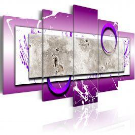 Obraz - Abstrakcja z fioletem (100x50 cm)