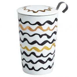 Kubek z zaparzaczką do herbaty 350ml Eigenart Złote szlaczki