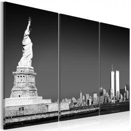 Obraz - Statua Wolności w szarościach (60x40 cm)