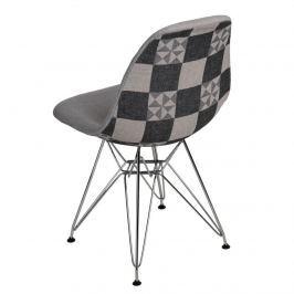 Krzesło P016 DSR Pattern D2 szare/patchwork