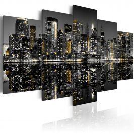 Obraz - Fascynujące życie nocne Nowego Jorku (100x50 cm)