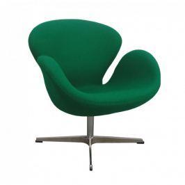 Fotel 72x65x77cm Quadre Nicotine zielony kaszmir