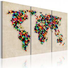 Obraz - Świat jak kalejdoskop - tryptyk (60x40 cm)
