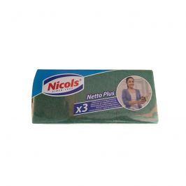 Zmywaki do kuchni Netto Plus 3 szt. Nicols XXL