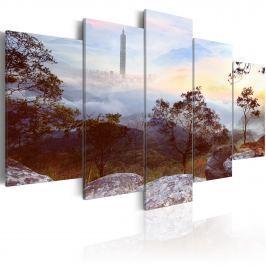 Obraz - Wieża i horyzont (100x50 cm)