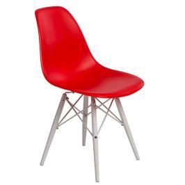 Krzesło 45x39x80cm D2 P016W PP czerwone/białe