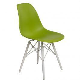 Krzesło P016W PP D2 zielone/białe